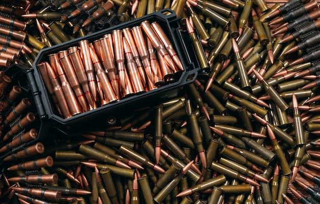 Różne tło amunicji
