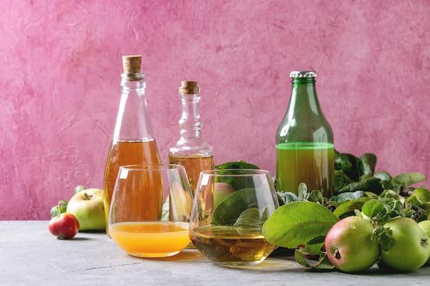 Różnorodne napoje jabłkowe