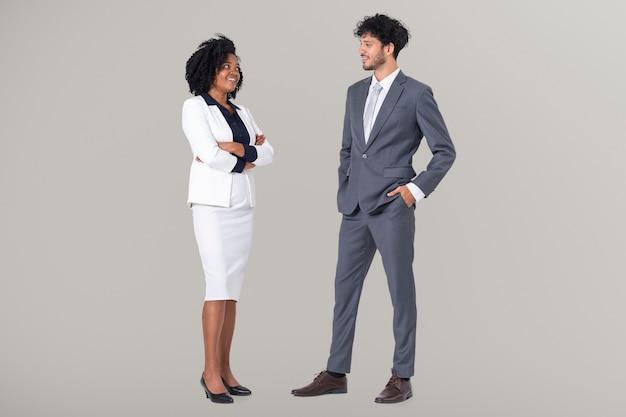 Różnorodni ludzie biznesu portret całego ciała do pracy i kampanii zawodowej