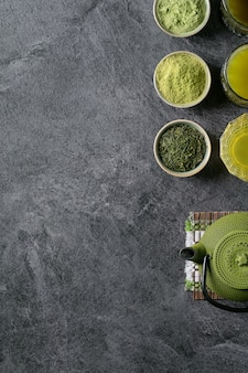 Różnorodność herbaty matcha