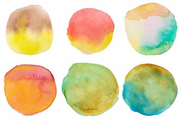 Różnorodność zaokrąglonych tekstur na płótnie