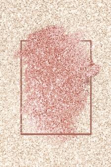Różowa brokatowa smuga