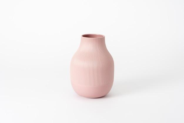 Różowa ceramiczna waza