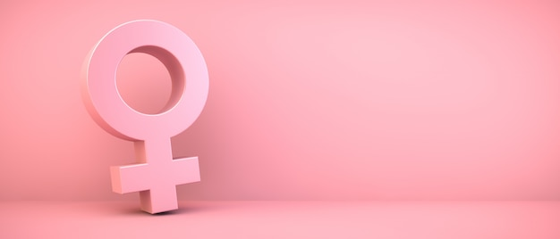 Różowa ikona kobiety