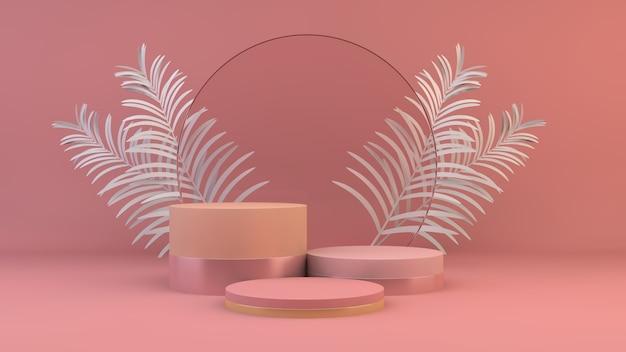 Różowa platforma do prezentacji produktu renderowania 3d