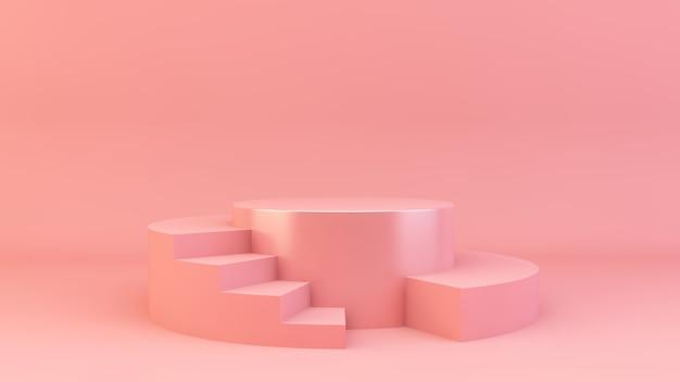 Różowa platforma do prezentacji produktu