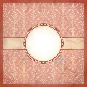 Różowa ramka w stylu vintage z koronki