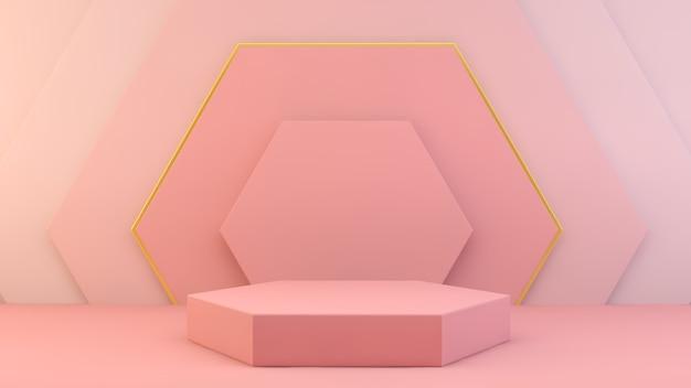Różowa sześciokątna platforma