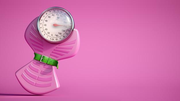 Różowa waga dietetyczna