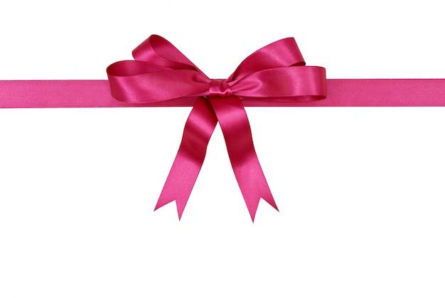 Różowa wstążka prezent