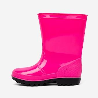 Różowe buty przeciwdeszczowe obuwie mody
