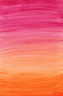 Różowe i pomarańczowe tło gradientowe akwarela, papier cyfrowy