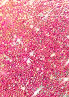 Różowe kryształy brokatowe tło karta zaproszenie