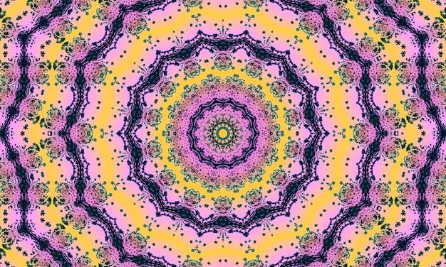 Różowe pastelowe tło kalejdoskopu, abstrakcyjny wzór sztuki - minimalistyczne wzory do dekoracji wnętrz, sztuki ścienne, druk na płótnie i nie tylko
