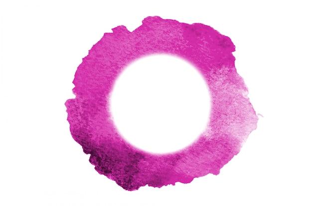 Różowe plamy akwareli tworzące koło