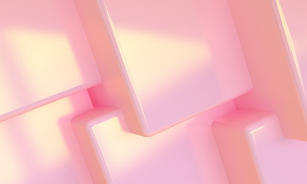 Różowe pudełko 3d streszczenie styl