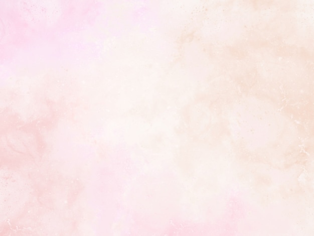 Różowe tło akwarelowe z abstrakcyjnymi frędzlami i kroplami farby i kroplami