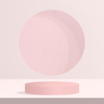 Różowe tło produktu z przestrzenią projektową