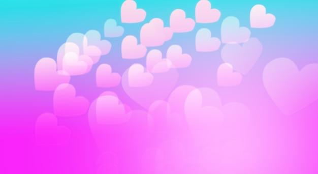 Różowe tło serca na boże narodzenie i walentynki festiwal miłości