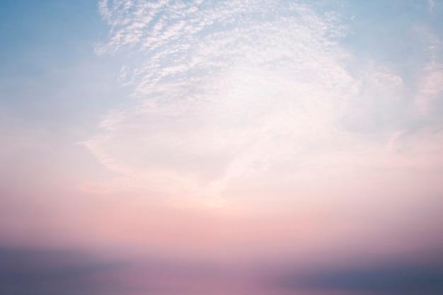 Różowe żywe niebo