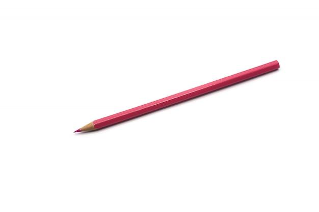Różowi kolorów ołówki odizolowywający