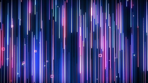 Różowo-niebieska neonowa animowana ściana vj