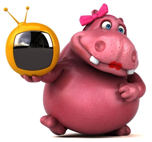 Różowy hipopotam