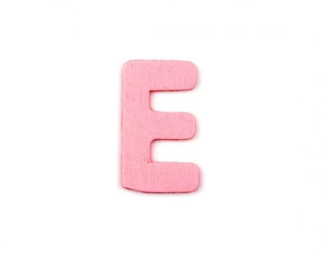 Różowy litera e