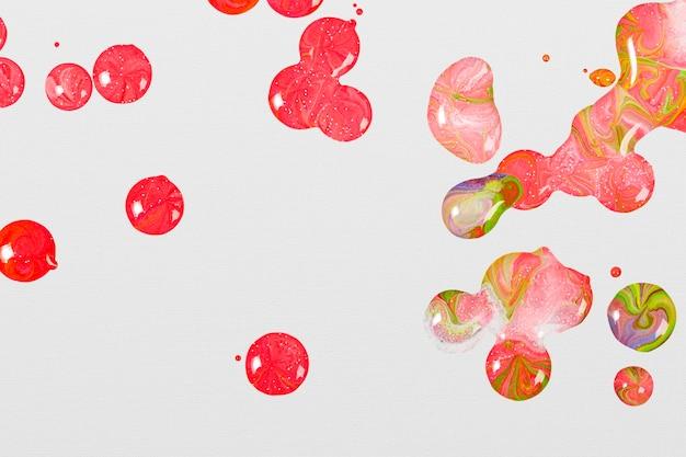 Różowy marmurowy wirowy element kobiecej farby akrylowej