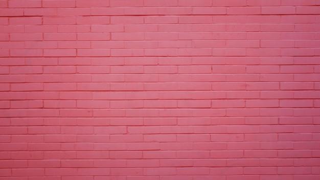 Różowy mur z cegły