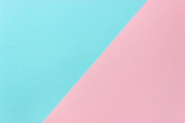 Różowy niebieski papier kolorowy tło. streszczenie pastelowe kolory geometryczne tło.