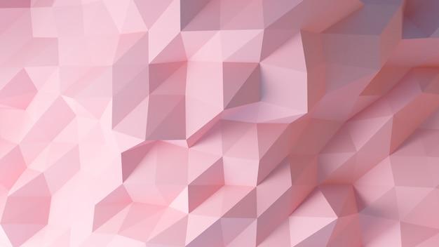 Różowy niski poli