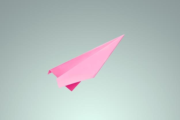 Różowy papier samaletik na jasnym tle