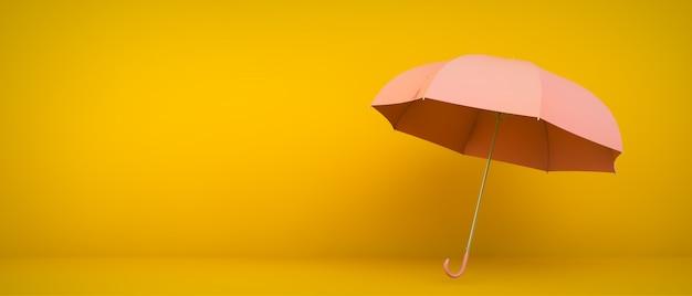 Różowy parasol