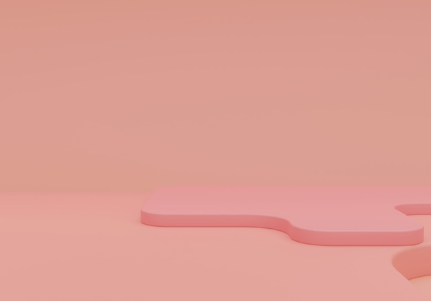 Różowy pastelowy monochromatyczne tło kosmetyczne do prezentacji produktu