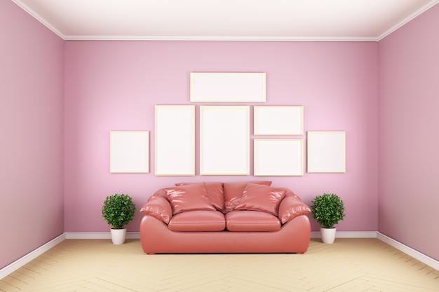 Różowy pokój - piękny pokój, pusty pokój