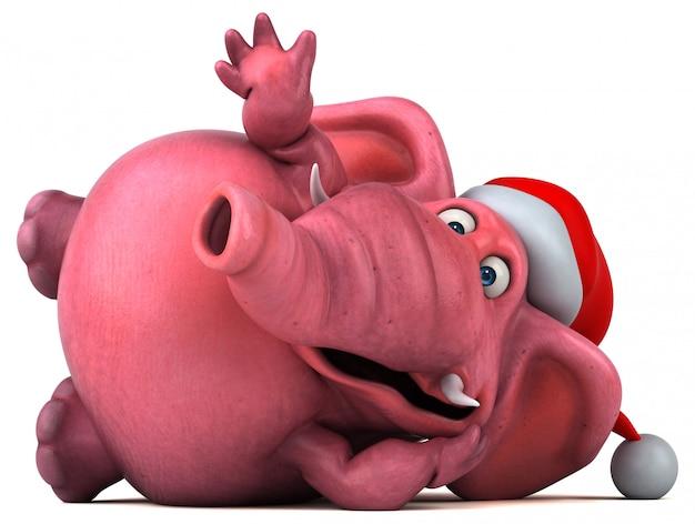 Różowy słoń - 3d ilustracja