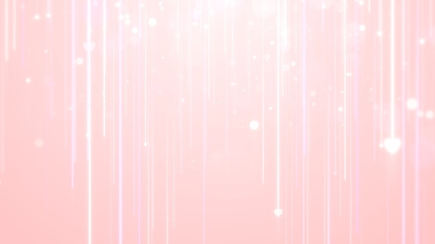 Różowy valentine serce linia smuga tło.