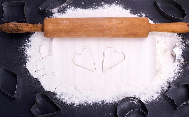 Rozproszona biała mąka pszenna