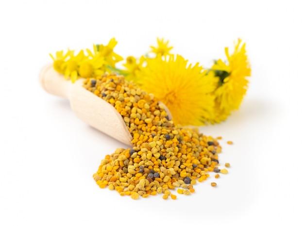 Rozrzucony pyłek pszczeli