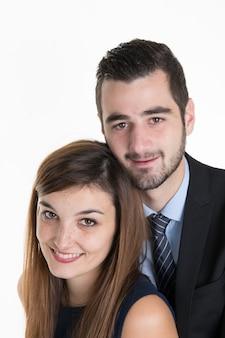 Rozważny pary przytulenie i przyglądający up - odosobniony