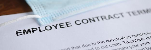 Rozwiązanie umowy o pracę z powodu pandemii koronawirusa leży na stole
