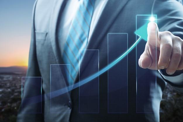 Rozwój biznesu do sukcesu i rosnącego wzrostu