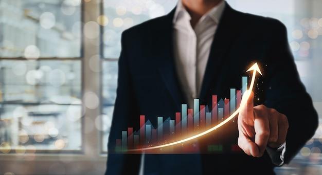 Rozwój biznesu do sukcesu, zysku i rosnącego planu wzrostu