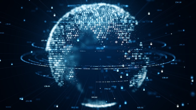 Ruch cyfrowego przepływu danych.