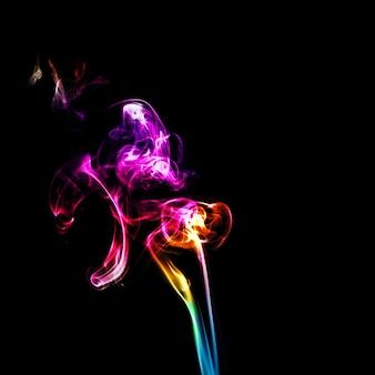 Ruch kolorowego dymu