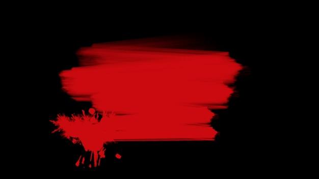 Ruch streszczenie czerwone pędzle, czarne tło grunge. elegancki i luksusowy styl ilustracji 3d dla szablonu hipster i akwareli
