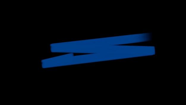 Ruch streszczenie niebieskie pędzle, kolorowe tło grunge. elegancki i luksusowy styl ilustracji 3d dla szablonu hipster i akwareli