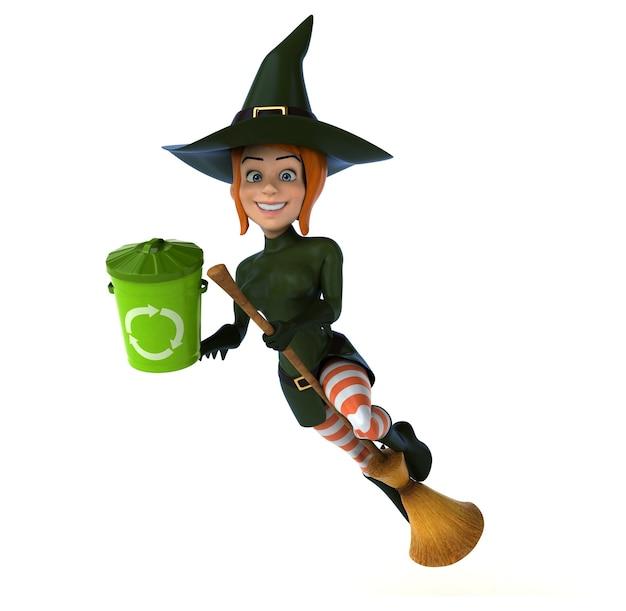 Ruda czarownica ilustracja 3d