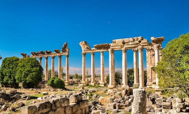 Ruiny bustan al khan w baalbek w libanie